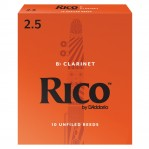 D`ADDARIO WOODWINDS RCA1025 RICO, BB CLAR, 2.5, 10 BX