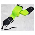 DIMARZIO 2 INCH NYLON STRAP W/LEATHER ENDS NEON GREEN DD3100NGN