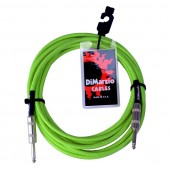 DIMARZIO INSTRUMENT CABLE 18 NEON GREEN EP1718SSGN