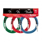 FENDER 15 CALIFORNIA INSTRUMENT CABLE LAKE PLACID BLUE