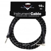 FENDER CUSTOM SHOP 10 ANGLE INSTRUMENT CABLE BLACK TWEED