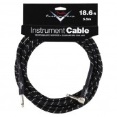 FENDER CUSTOM SHOP 18.6 ANGLE INSTRUMENT CABLE BLACK TWEED