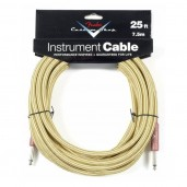 FENDER CUSTOM SHOP 25 INSTRUMENT CABLE TWEED