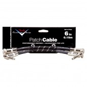 FENDER CUSTOM SHOP 6 PATCH CABLE 2 PACK BLACK TWEED