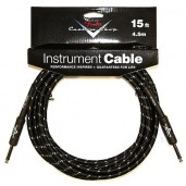 FENDER CUSTOM SHOP CABLE 15 BLACK