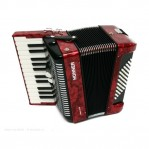 HOHNER THE NEW BRAVO II 48 RED
