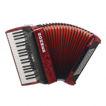 HOHNER THE NEW BRAVO III 80 RED