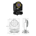 TERBLY OK12QZoom LED Beam Wash/Zoom