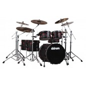 DDRUM HYBRID 6 BLK RED