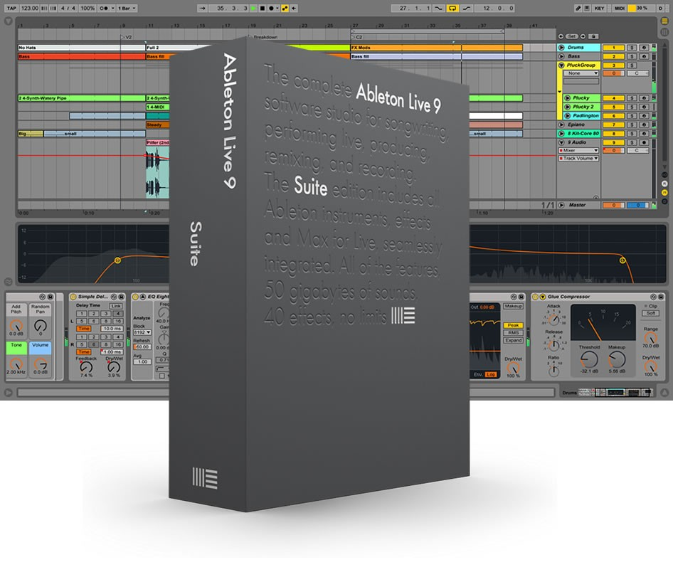 ПО для создания музыки ABLETON Live 9 Suite EDU