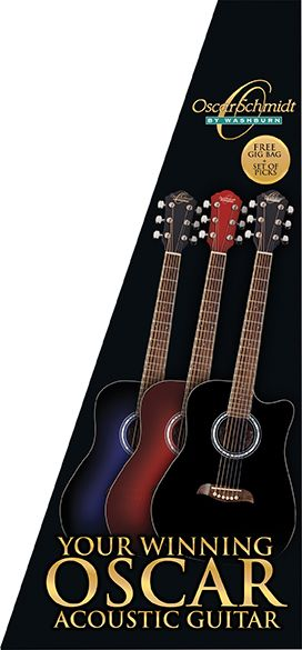 акустическая гитара Dreadnought, Red Burst OSCAR SCHMIDT OD45CRDBPAK